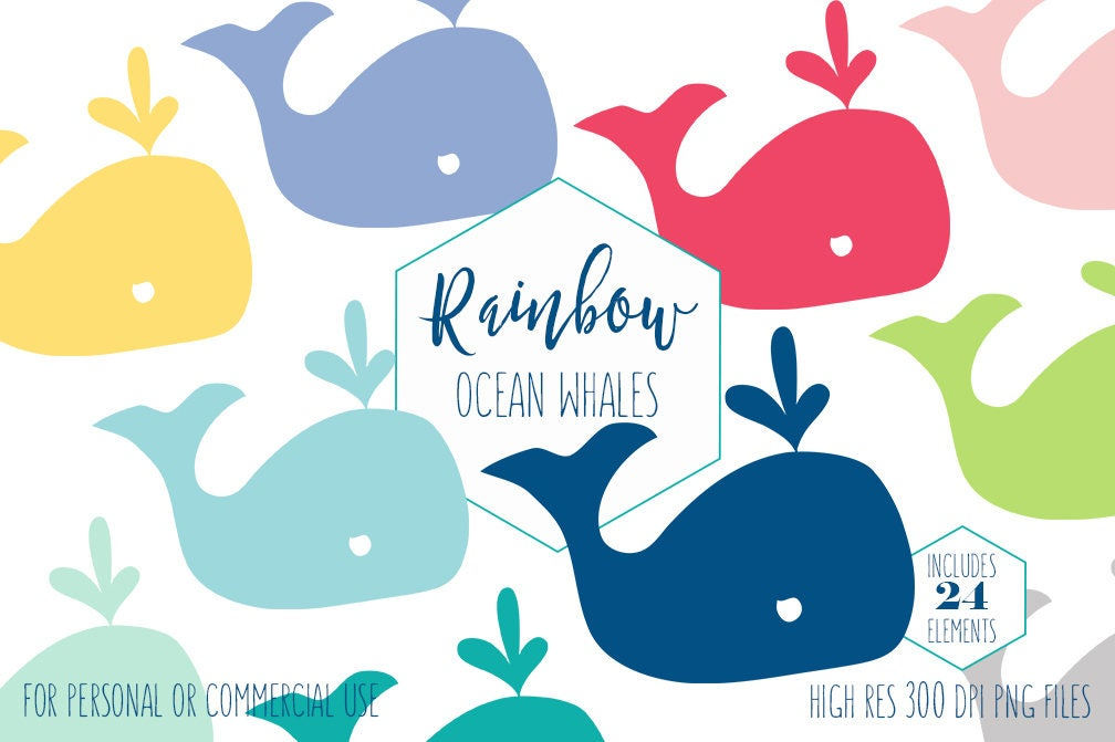 CUTE WHALE CLIPART for Commercial Use Kids Clip Art ...