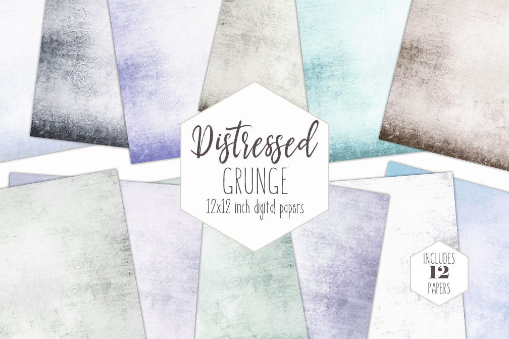 image about Printable Textures referred to as Classic Outdated Electronic Paper Pack Distressed Grunge