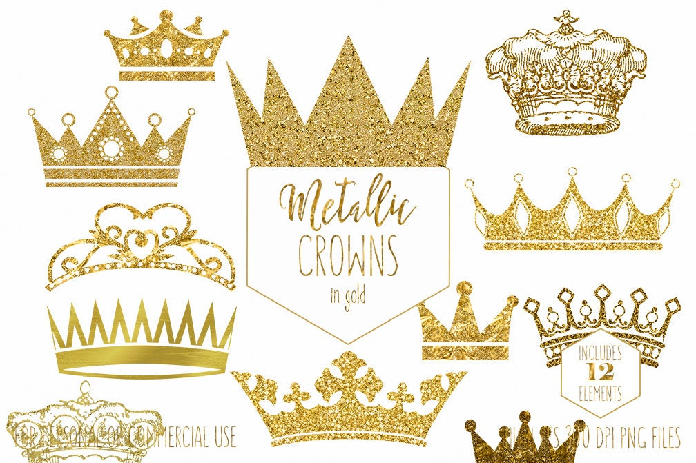 GOLD CROWN CLIPART Commercial Use Clip Art Antique