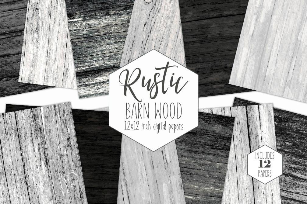 Rustic Dark Wood Digital Paper Pack Black Wood