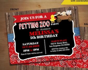 Petting zoo invites Etsy