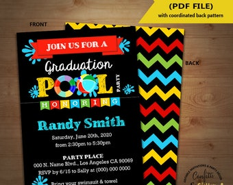 Chalkboard invites etsy graduation pool party bash invitation end of school pool party chalkboard invite instant download you edit solutioingenieria Choice Image