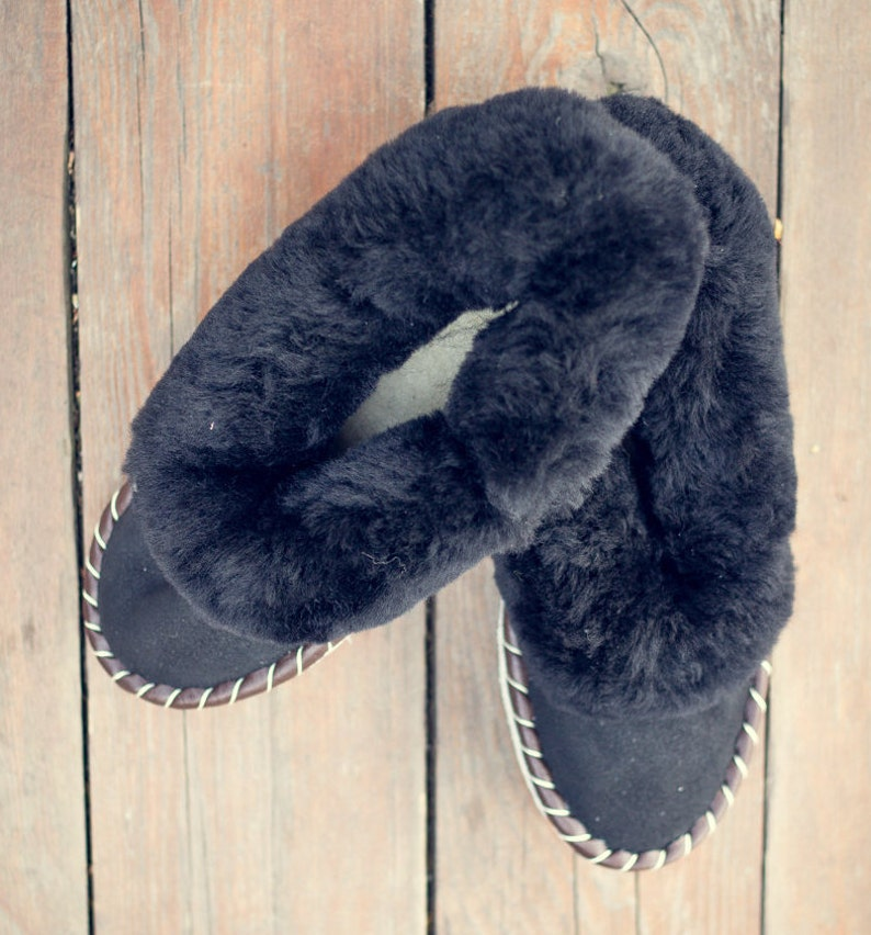 fc61b535ceea SHEEPSKIN slippers Handmade Leather Slipper Shoes Men Warm