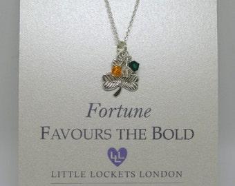 National team colours, England, Ireland, Scotland, Wales crystal pendant u emblem, sterling silver