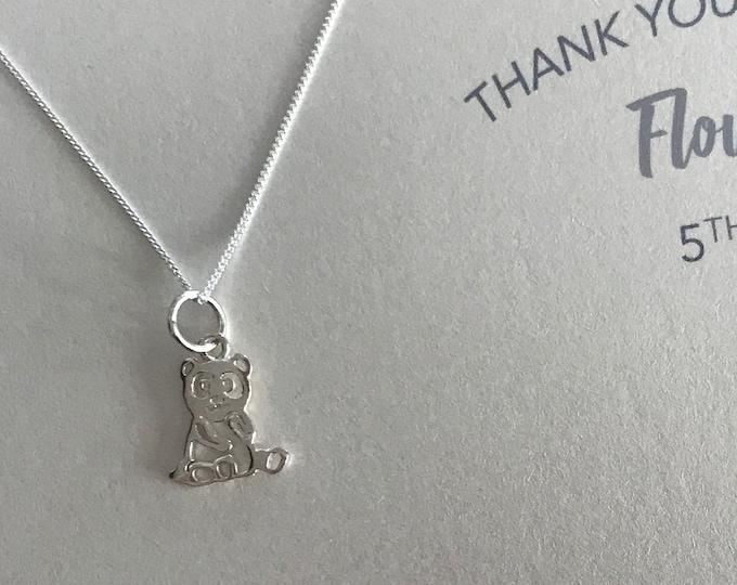 Teddy bear pendant for flower girl