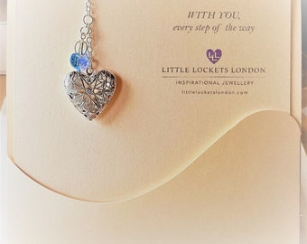 Swarovksi heart bouquet memorial charm, something blue
