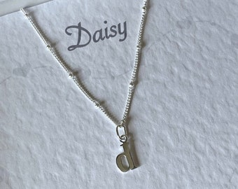 Bridesmaid Jewellery Gift with Initial - Sterling Silver Pendant Bridesmaid jewellery