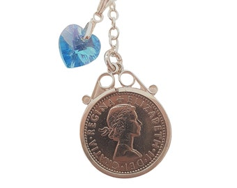 Traditional Sixpence Bouquet Charm