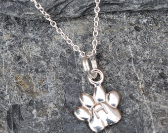 Pet Lovers Gift, Paw Pendant, Sterling silver, Cutie Cute Sterling Silver Dainty Paw Necklace - personalise