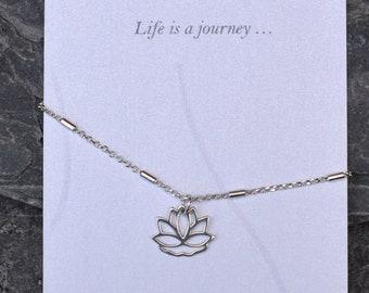 Lotus Flower Anklet, Yoga Anklet, Yoga Ankle Chain, Zen, Chakra practice