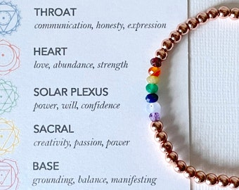 Chakra Hematine Beaded Bracelet - 7 Chakras yoga jewellery