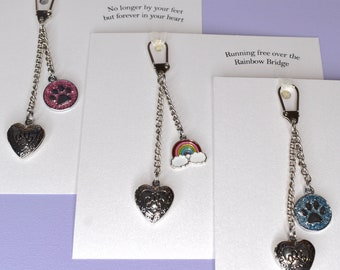 Paw Print (opening locket) keyring. Pet Jewellery Memorial