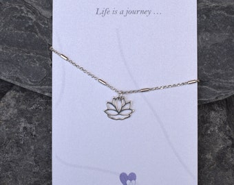 Lotus Flower Anklet, Yoga Anklet, Yoga Ankle Chain, Zen