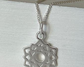 Crown Chakra Necklace Sterling Silver, Spiritual Jewellery, Yoga Jewellery