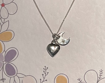 Moon and Heart Necklace - the perfect Mother's Day Gift