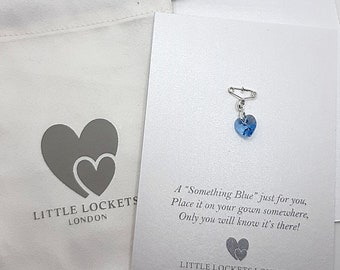 Wedding Bouquet Charm, Secret Charm, Something Blue, Personalise