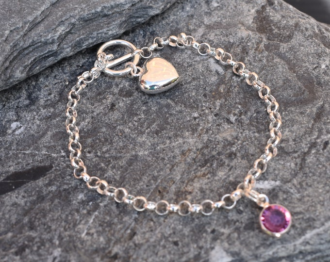 Baby/Child Charm Bracelet - includes first charm and birthstone