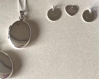Sterling silver locket - wedding keepsake