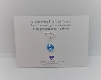 Something blue, secret charm, for the bride, sterling silver
