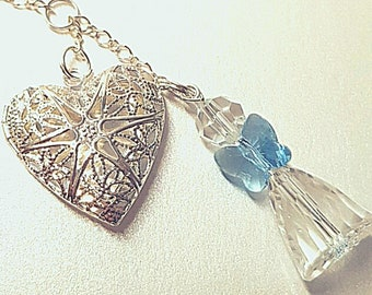 Bouquet Locket, Angel, Something Blue