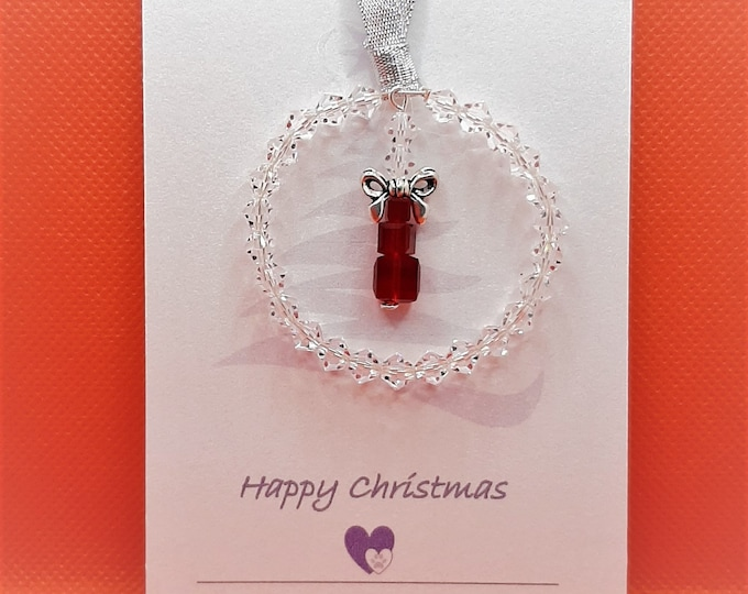 Crystal Christmas Decoration - Present Stack