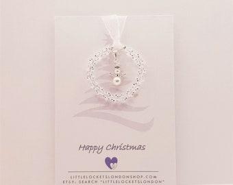 Little Angel Christmas Tree Decoration - Personalise
