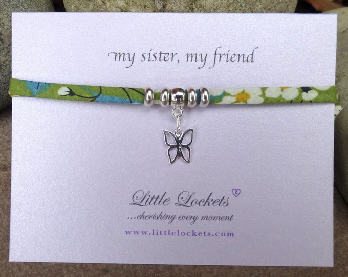 Miss You Message bracelets - Liberty Fabric