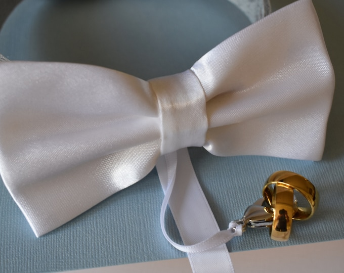 Dog Ring Bearer/Proposal Idea-White Bow Tie and Collar, Wedding Dog Collar, Pet Collars, wedding dog, dog bow tie white, pets at weddings