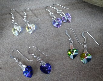 Swarovski crystal earring, colour choices, Bridesmaid gift, wedding set, bride, mum, prom