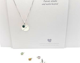 Personalised Constellation Pendant wish Swarovski Birthstone