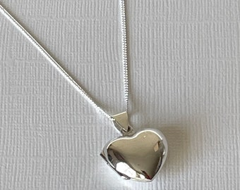 Heart Photo Locket, sterling silver
