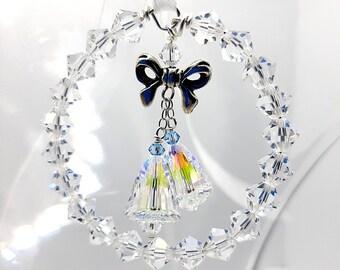 Wedding Bouquet Charm, Crystal Wedding Bells