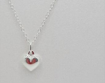 Little Heart Pendant, Sterling Silver