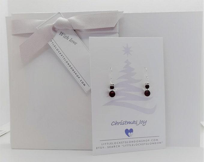 Swarovski Pearl Angel Earrings - Personalise