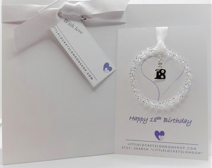 16th, 18th or 21st Birthday Gift - Swarovski Crystal & Sterling Silver hanging ornament
