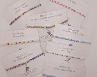 Thank You Bracelet - Personalised Designs and Wording