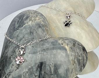 Pet lovers bracelet, Swarovski charm