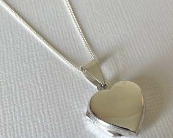 Sterling Silver Children's Photo Locket - First Communion, Flower Girl, Christening gift, Birthday, keepsake jewellery