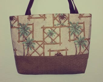 Palm Trees And  Bamboo Travel Bag