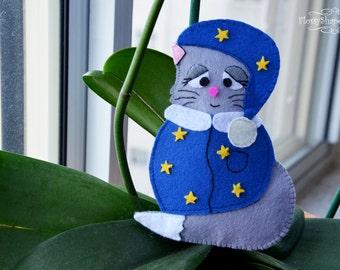 Felt Sewing Pattern, Felt Cat Pattern, Felt Animal Pattern, DIY Pattern, Cat Toy Pattern, Embroidery Pattern, PDF Pattern, Stuffed Cat Toy