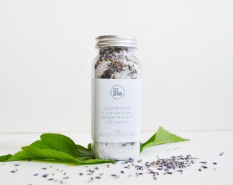 Lavender Bath Salts | Aromatherapy | Essential oils | Ecoderma | Spa Gift for her | Gift for her | Soothing Bath Soak | Handmade gift