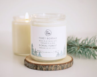 Boreal Forest Handcrafted Soy Candle | Winter Candle | Scented Candle | Spa Gift for her | Handmade and 100% Vegan