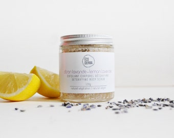Best-Seller! Lemon & Lavender Body Scrub 4oz  | Aromatherapy | Essential Oils |  Skincare | Sugar scrub gift set | Bath