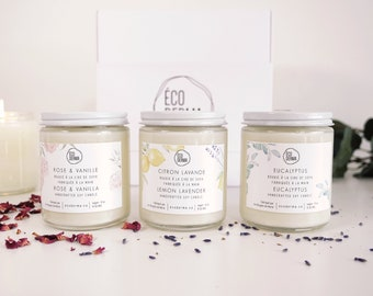 BEST SELLER! Candle Gift Set Trio  | Aromatherapy | Essential oils | Natural | Scented Candles | Spa Gift for her