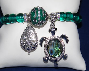 Assorted India Glass Bead Bracelet