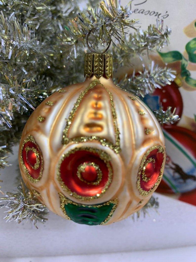 Indent Ornament Ornament Vintage Ornament Double Indent Made in Poland Ornament Fancy Shaped ornament