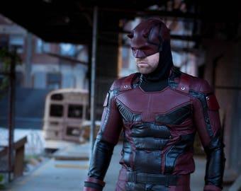 Daredevil Netflix saison 2 casque uréthane costume col cosplay masque