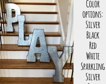 on saleextra large metal letterspick color galvanized metal letterswall lettersxxl business letters20 inch metal letterswall letters