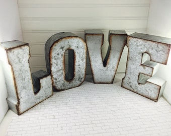 "VINTAGE LARGE INDUSTRIAL SALVAGE LETTER /'U/' CLEARANCE METAL 10/"" tall"