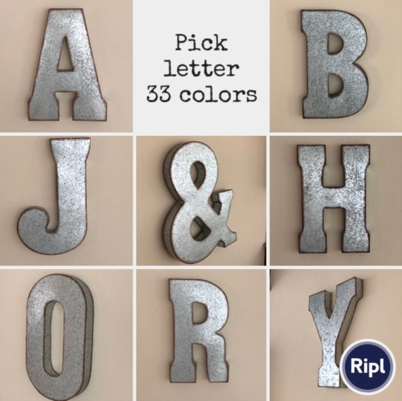 Metal Letters Wall Decor